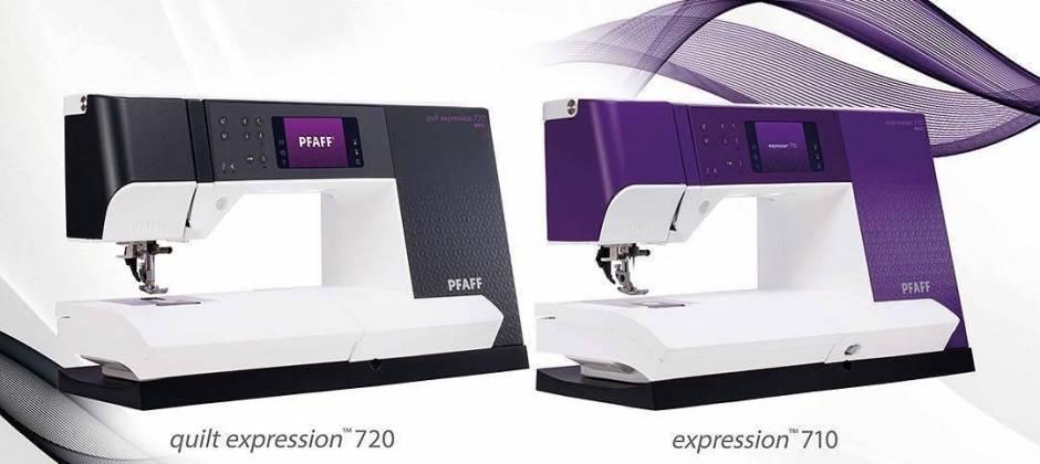 Nieuwe PFAFF Expression 710 en 720