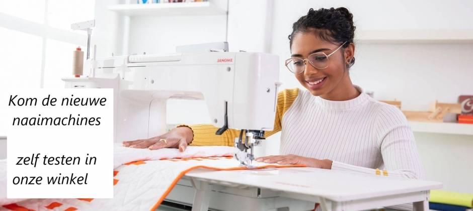 Kom zelf de nieuwe naaimachine testen